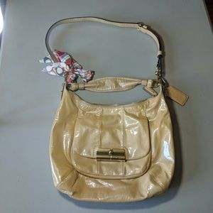 Coach Golden Patent Leather Convertible Bag